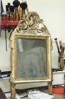 Gilding mirror frame before and after